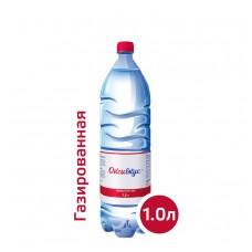 Вода Оксивкус / Oksivkus 1,0 литр, ПЭТ, газ, 8 шт. в упаковке