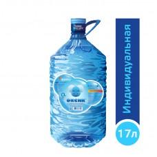 Вода ОКСИК 17 литров, PET, для кулера, в индивидуальной упаковке