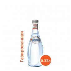 Вода РУСОКСИ / RUSOXY 0,33 литра, стекло, газ, 24 шт. в упаковке