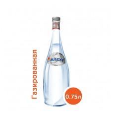 Вода РУСОКСИ / RUSOXY 0,75 литра, стекло, газ, 12 шт. в упаковке